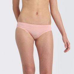 Culotte fille en microfibre à ceinture festonnée Rose Touch - DIM - Modalova