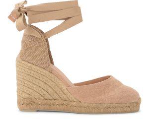 Sandale à semelle compensée Carina en canvas naturel - Castañer - Modalova