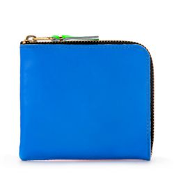 Portefeuille en cuir orange et bleu fluo - Comme des Garçons Wallet - Modalova