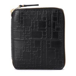 Portefeuille en cuir imprimé noir - Comme des Garçons Wallet - Modalova