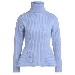 Pull à col roulé en laine bleu clair - ELISABETTA FRANCHI - Modalova