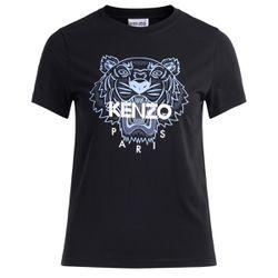 T-shirt Tigre noir avec imprimé bleu clair - Kenzo - Modalova