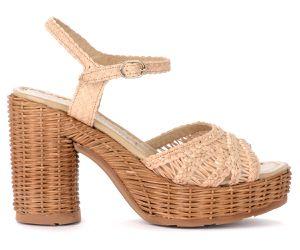 Sandale à talon Cannes en cuir couleur ivoire - Pons Quintana - Modalova