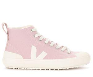 Sneaker alta Nova in cotone rosa - VEJA - Modalova