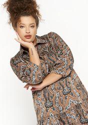 Robe chemise longue à imprimé coloré - LolaLiza - Modalova