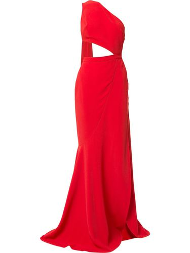 Cut-out high slit gown with back sash - Elie Saab - Modalova