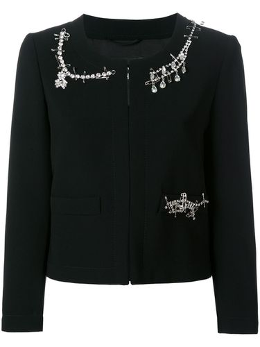 Crystal embellished jacket - Boutique Moschino - Modalova