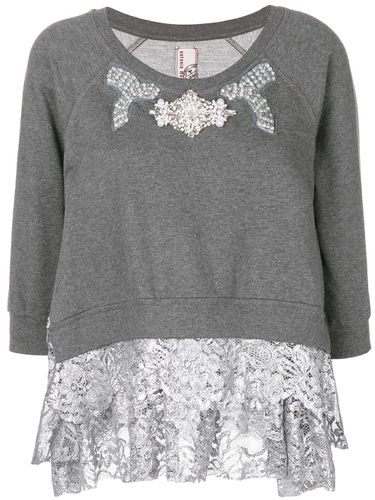 Embellished lace trim sweater - Antonio Marras - Shopsquare