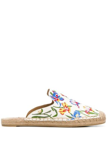 Embroidered espadrille slippers - Tory Burch - Modalova