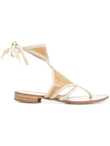 Cutout flat sandals - Prada Pre-Owned - Shopsquare