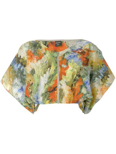 Abstract print cropped blouse - Jean Paul Gaultier Pre-Owned - Modalova