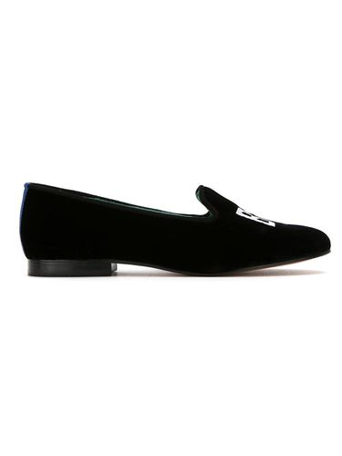 Embroidered velvet Boss loafers - Blue Bird Shoes - Shopsquare