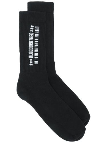 Embroidered barcode socks - Blood Brother - Modalova
