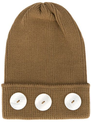 Button beanie - Marron - 0711 - Shopsquare