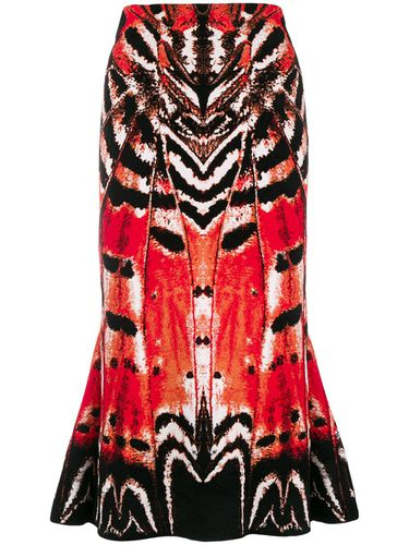Abstract print skirt - Alexander McQueen - modalova