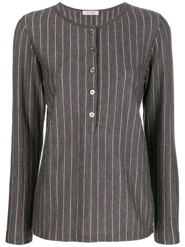 S pinstripe buttoned blouse - Yves Saint Laurent Pre-Owned - Modalova