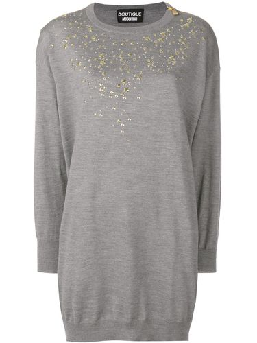 Embellished sweater dress - Boutique Moschino - Modalova