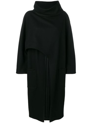 Asymmetric lose cape coat - Alberta Ferretti - Shopsquare