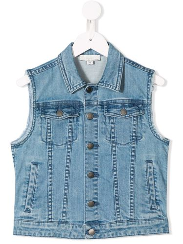 Veste à design sans manche en denim - Stella McCartney Kids - Modalova