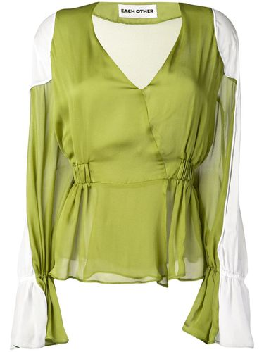 Each X Other blouse bicolore - Vert - Each X Other - Modalova