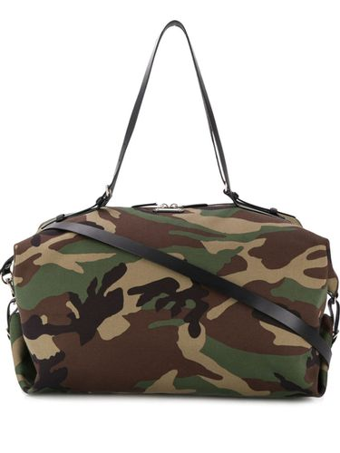 Sac week-end imprimé camouflage - Saint Laurent - modalova