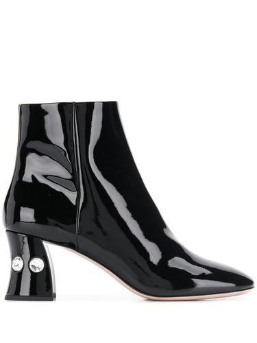 Bottines à talon à ornements - Miu Miu - Shopsquare