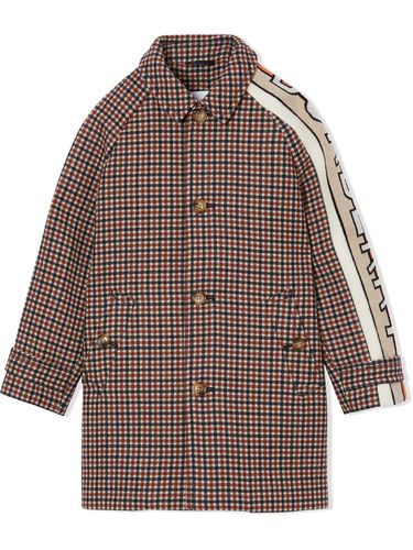 Manteau à carreaux - Burberry Kids - Modalova