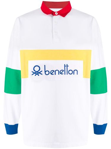 Polo colour block à logo - Benetton - Modalova