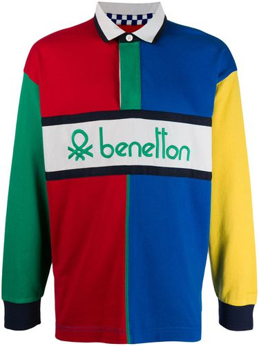 Benetton polo colour block - Bleu - Benetton - Modalova