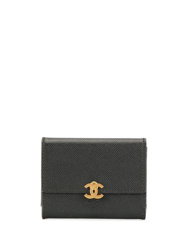 Portefeuille pliant à plaque logo - Chanel Pre-Owned - Modalova