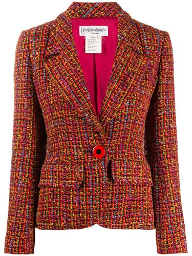 Blazer ajusté en tweed - Yves Saint Laurent Pre-Owned - Modalova