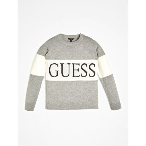 Pull Bande Contraste Logo - Guess - Shopsquare