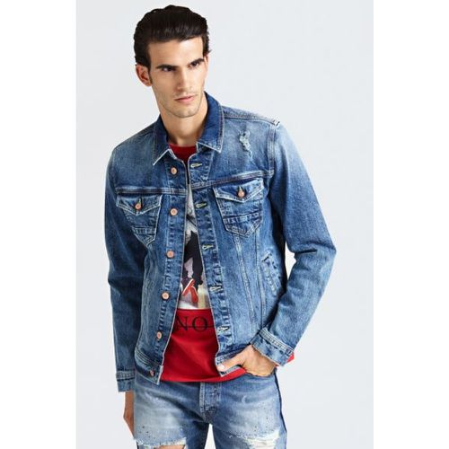 Veste Classique Denim Applications - Guess - Shopsquare