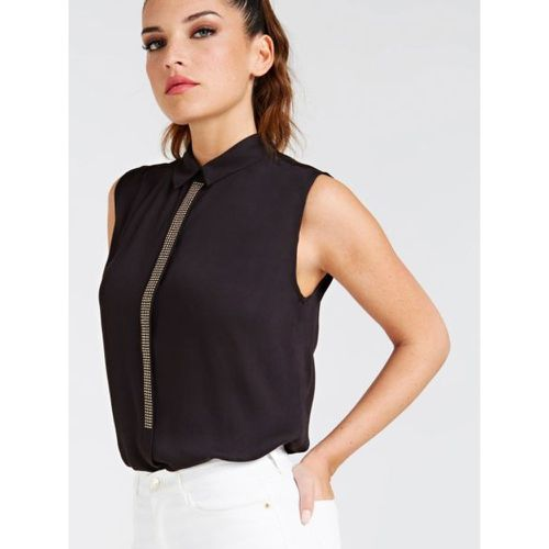 Top En Viscose Details Metalliques - Guess - Shopsquare