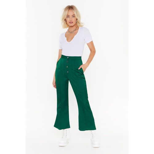 Add Some Flare Satin Cropped Pants - NastyGal - modalova