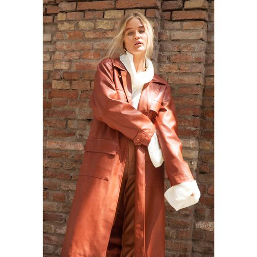 Trench long ceinturé en similicuir Trench-trench quotidien - NastyGal - Modalova