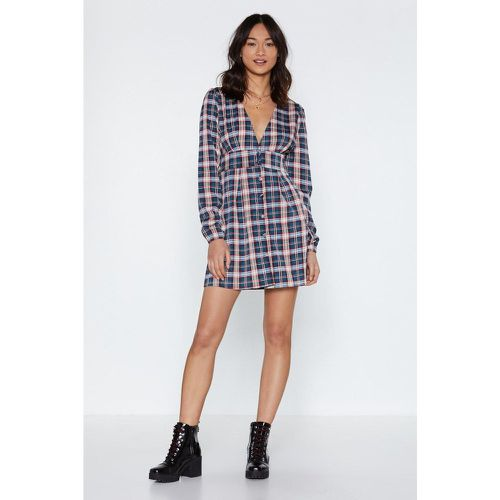 Robe courte Quadrillage - NastyGal - Shopsquare