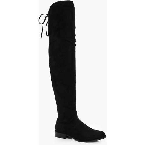 Bottes Cuissardes Plates - - 36, - boohoo - Shopsquare