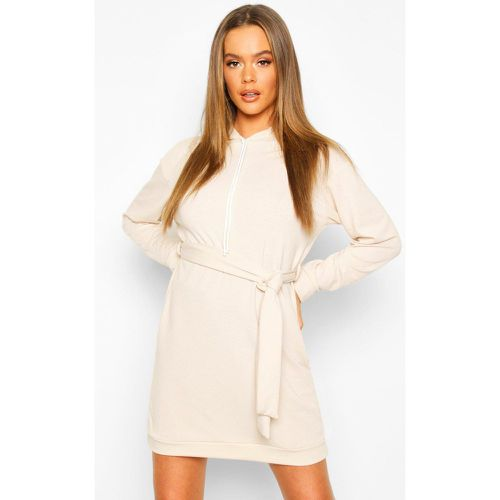 Robe Sweat Ceinturé À Capuche Sweat - - - 38, - boohoo - Modalova