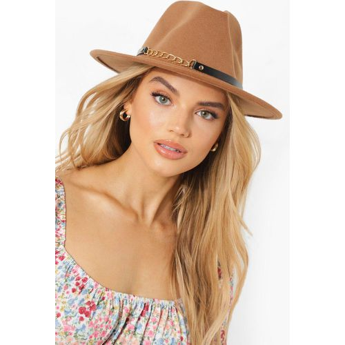 Chain Detail Fedora Hat - - ONE SIZE, - boohoo - Shopsquare