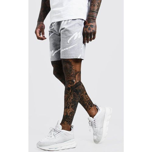 All Over MAN Print Mid Length Short Homme - - S, - Boohooman - Shopsquare