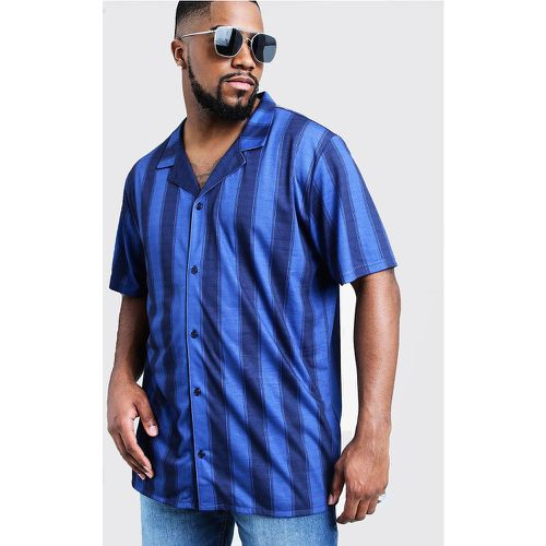 Chemise manches courtes en jersey col tailleur Big And Tall - boohooMAN - Shopsquare