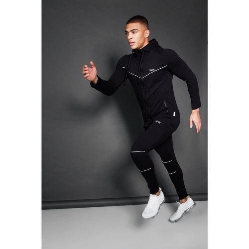 Active Zip Through Hooded Skinny Tracksuit Homme - - M, - Boohooman - Modalova