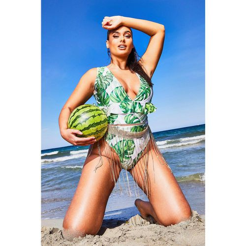 Maillot De Bain À Volants Tropical Plus - - 44, - boohoo - Shopsquare