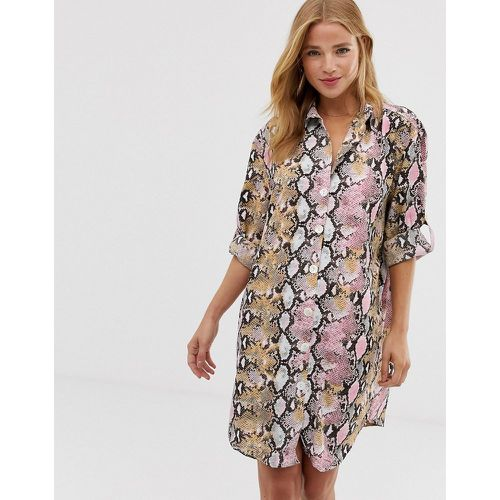 Robe chemise - Imprimé serpent - QED London - Shopsquare