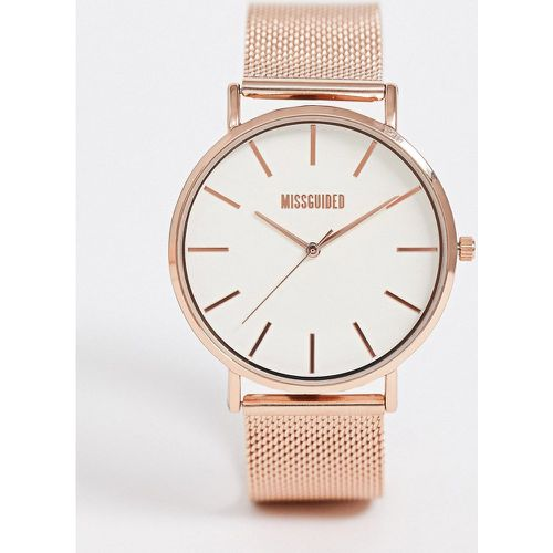 Montre-bracelet en maille - Or rose MG016RGM - Missguided - Shopsquare