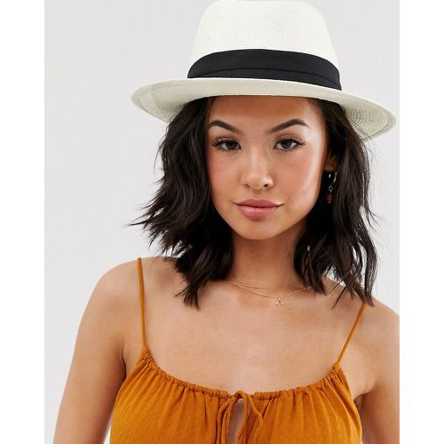 Pieces - Chapeau fedora - Blanc - Pieces - Shopsquare