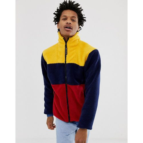 Veste en polaire effet color block - Bleu marine - Billionaire Boys Club - Shopsquare