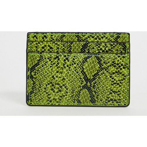 London - Porte-cartes effet serpent - fluo - My Accessories - Shopsquare