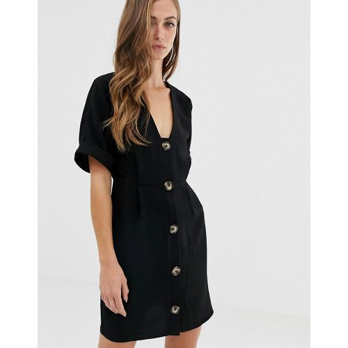 Robe fourreau courte boutonnée - ASOS DESIGN - Shopsquare